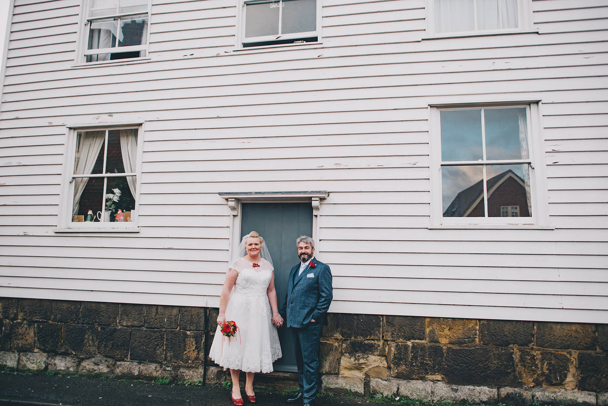 bride and groom at the bell in ticehurst