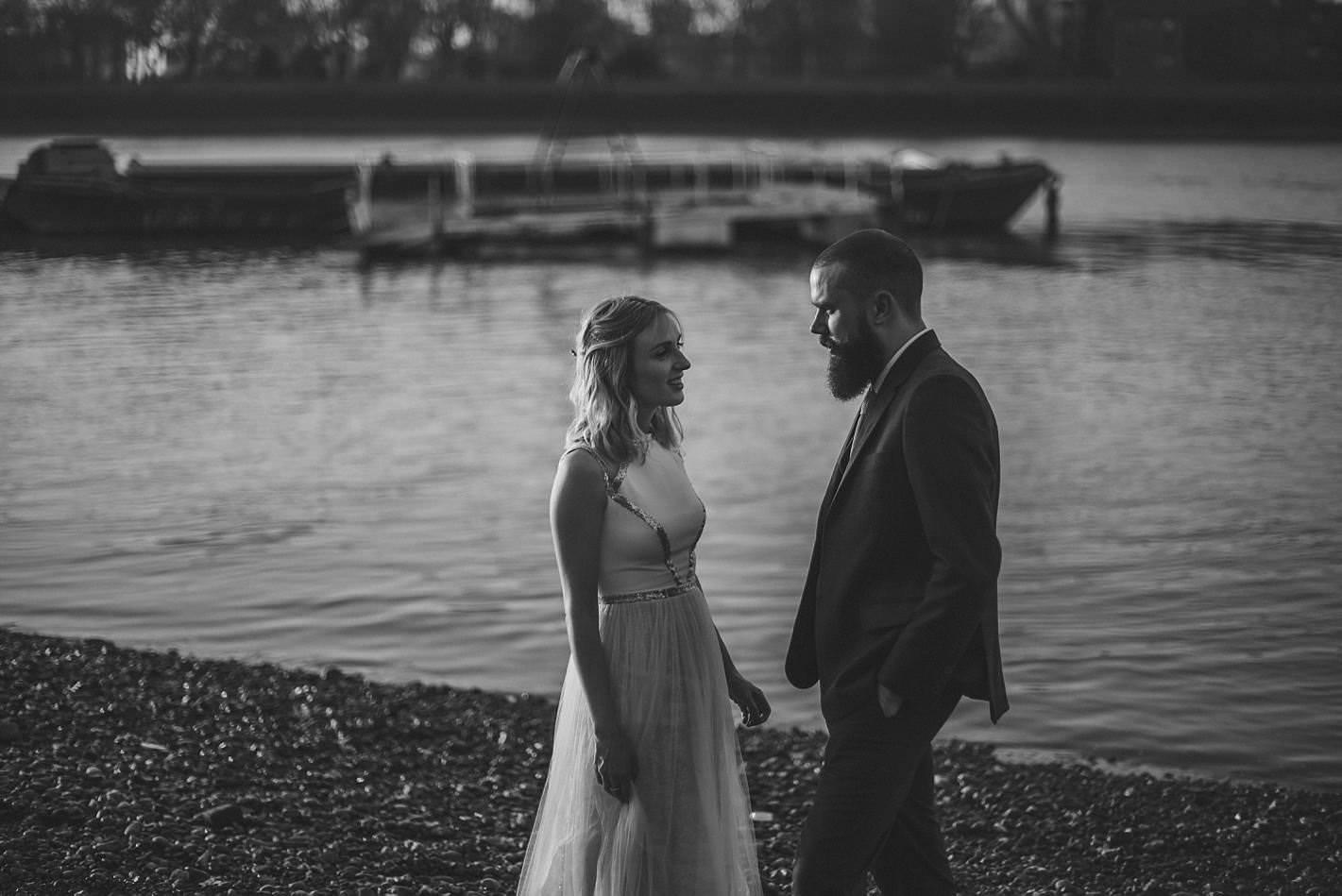 black and white london weddings