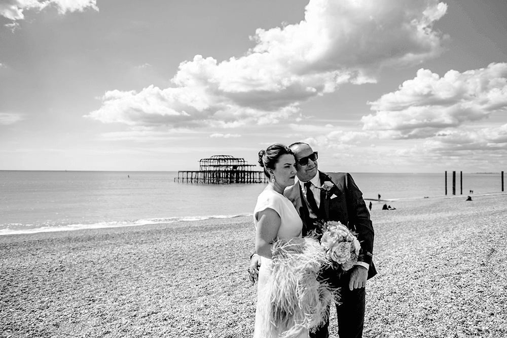 Brighton beach weddings, wedding photography brighton, brighton wedding photographer