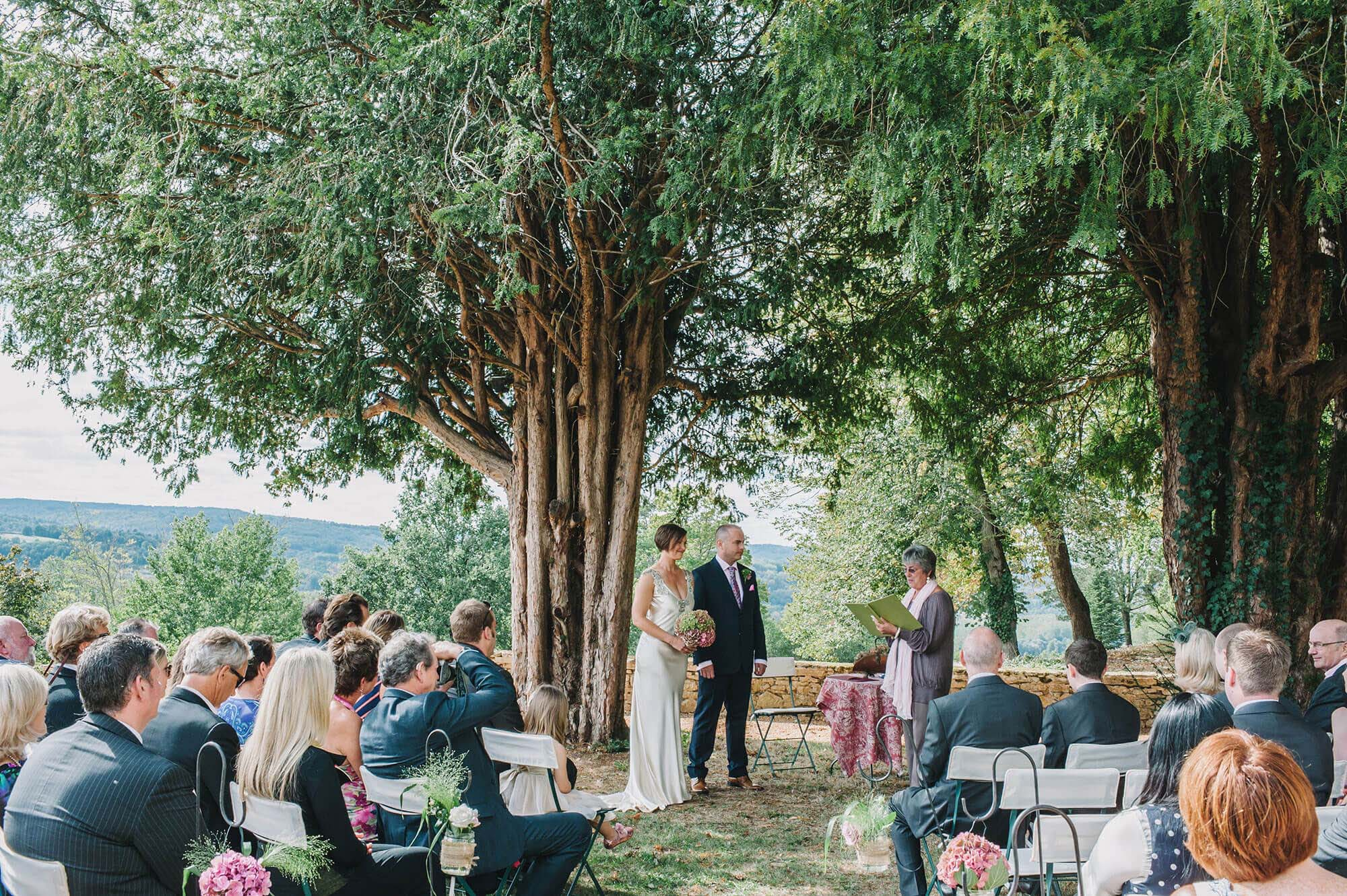 a destination wedding in the south of France