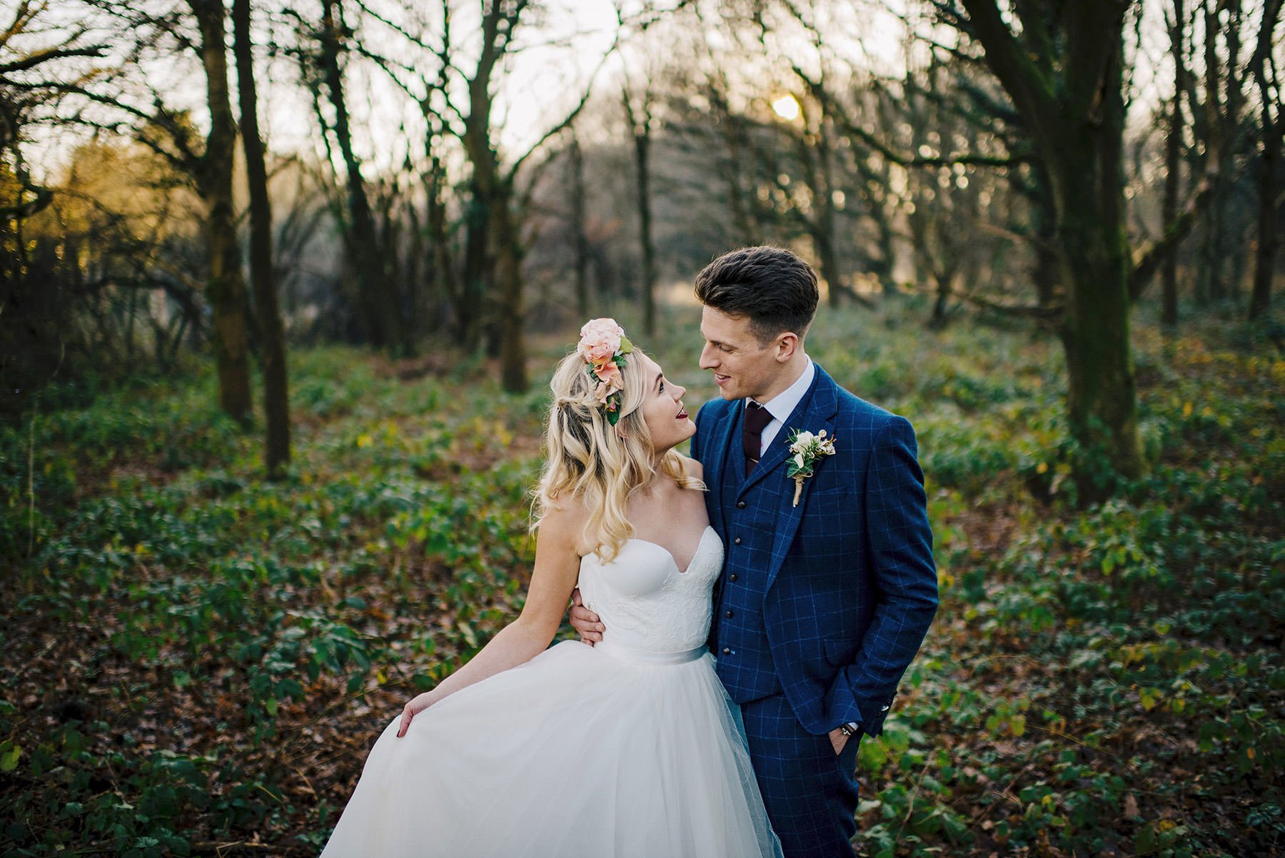 golden hour winter wedding, winter wedding