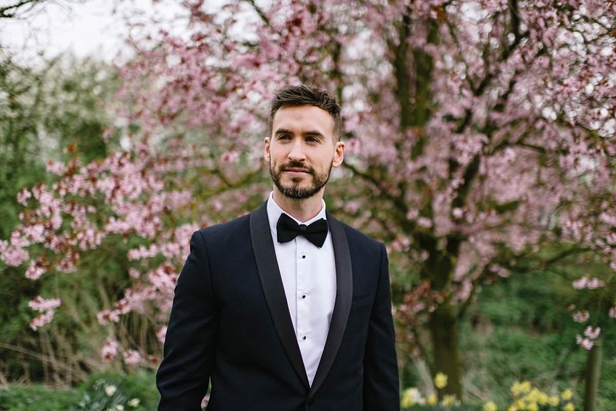 groom and blossom