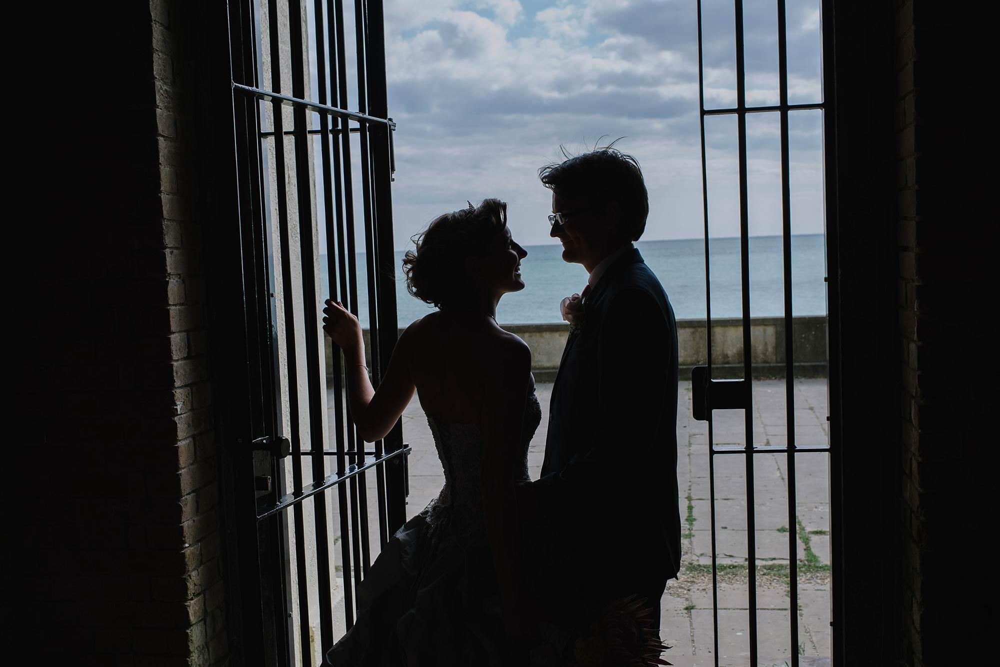 bride and groom brighton beach, jacqui mcsweeney photography