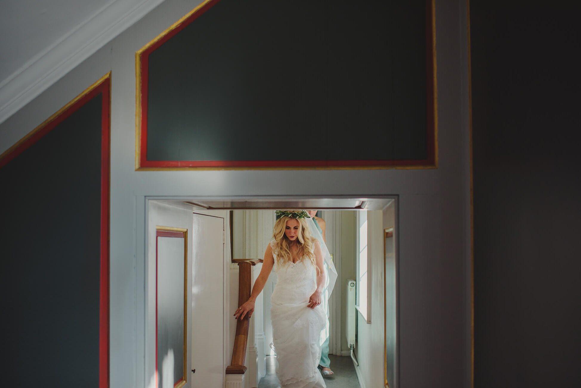 bride walking into her wedding