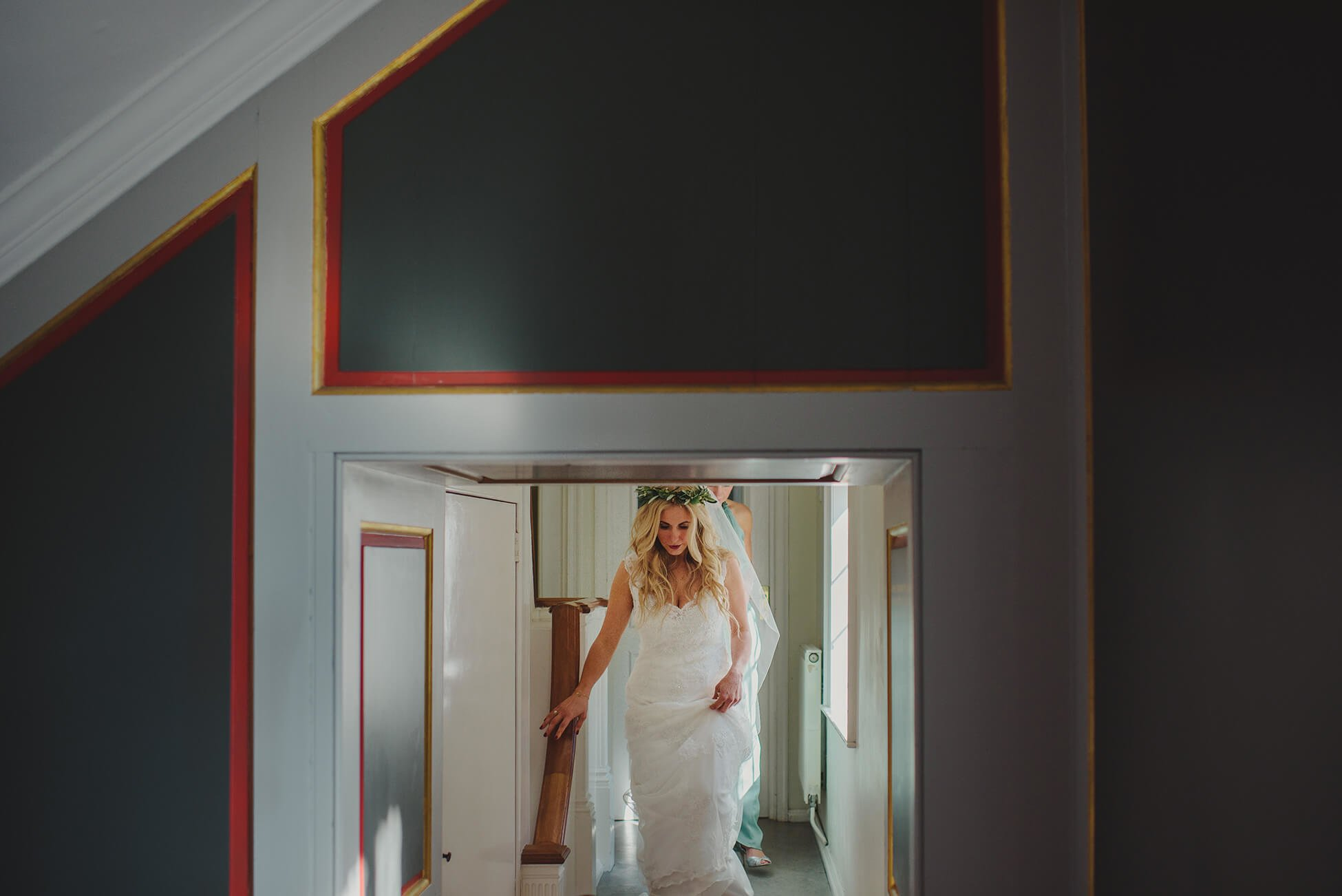 bride walking into her wedding