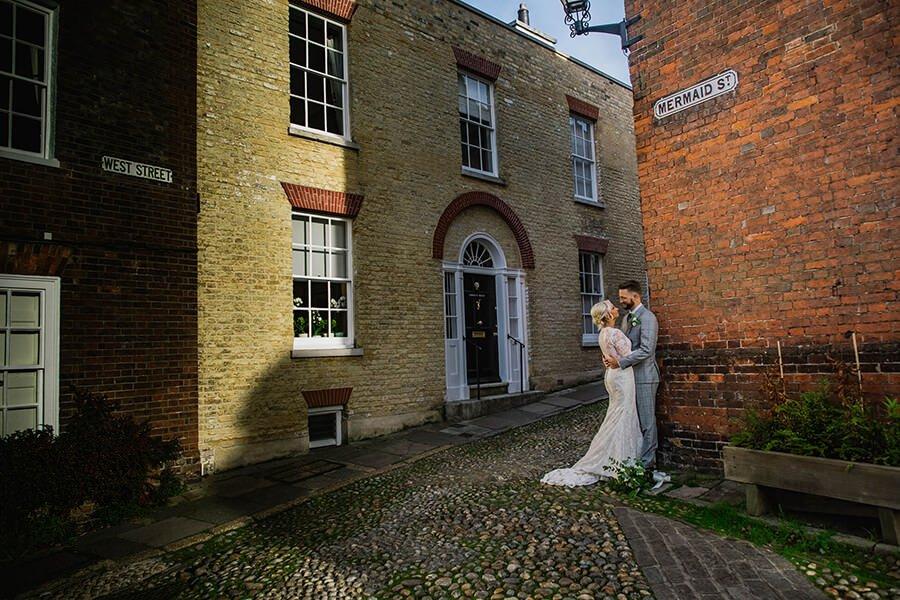 bride and groom in rye