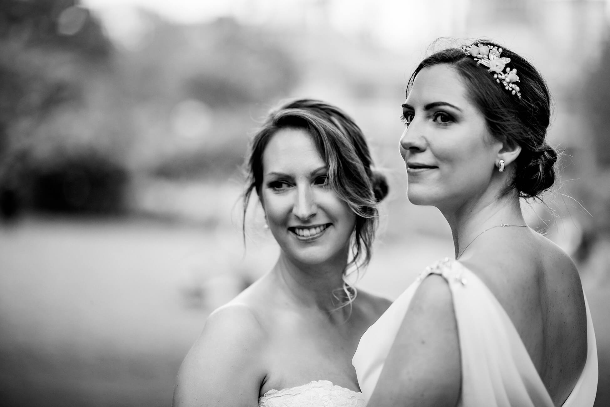 black and white two brides