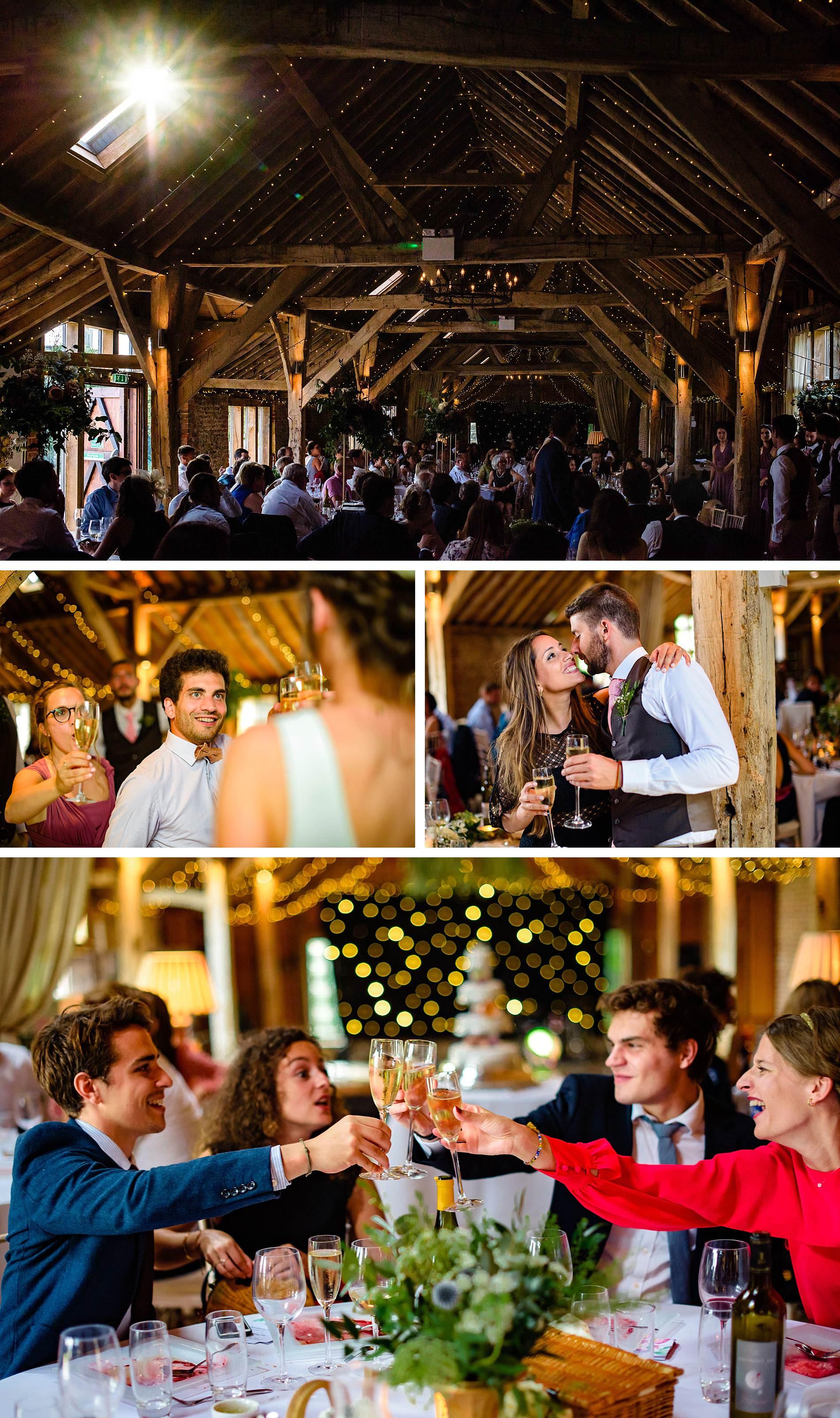 wedding reception at The Long Barns Hampshire