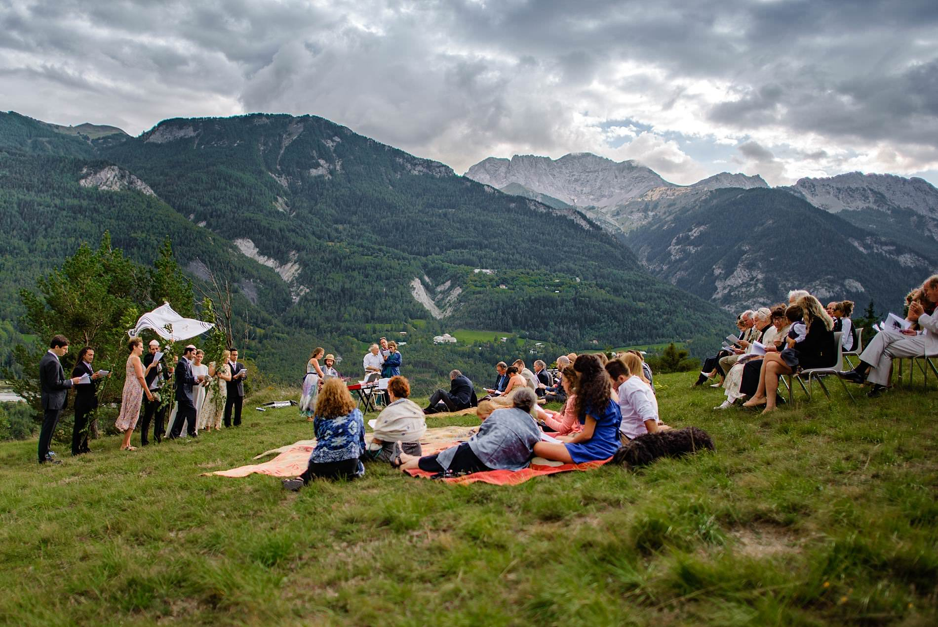 wedding on a mountain french alps