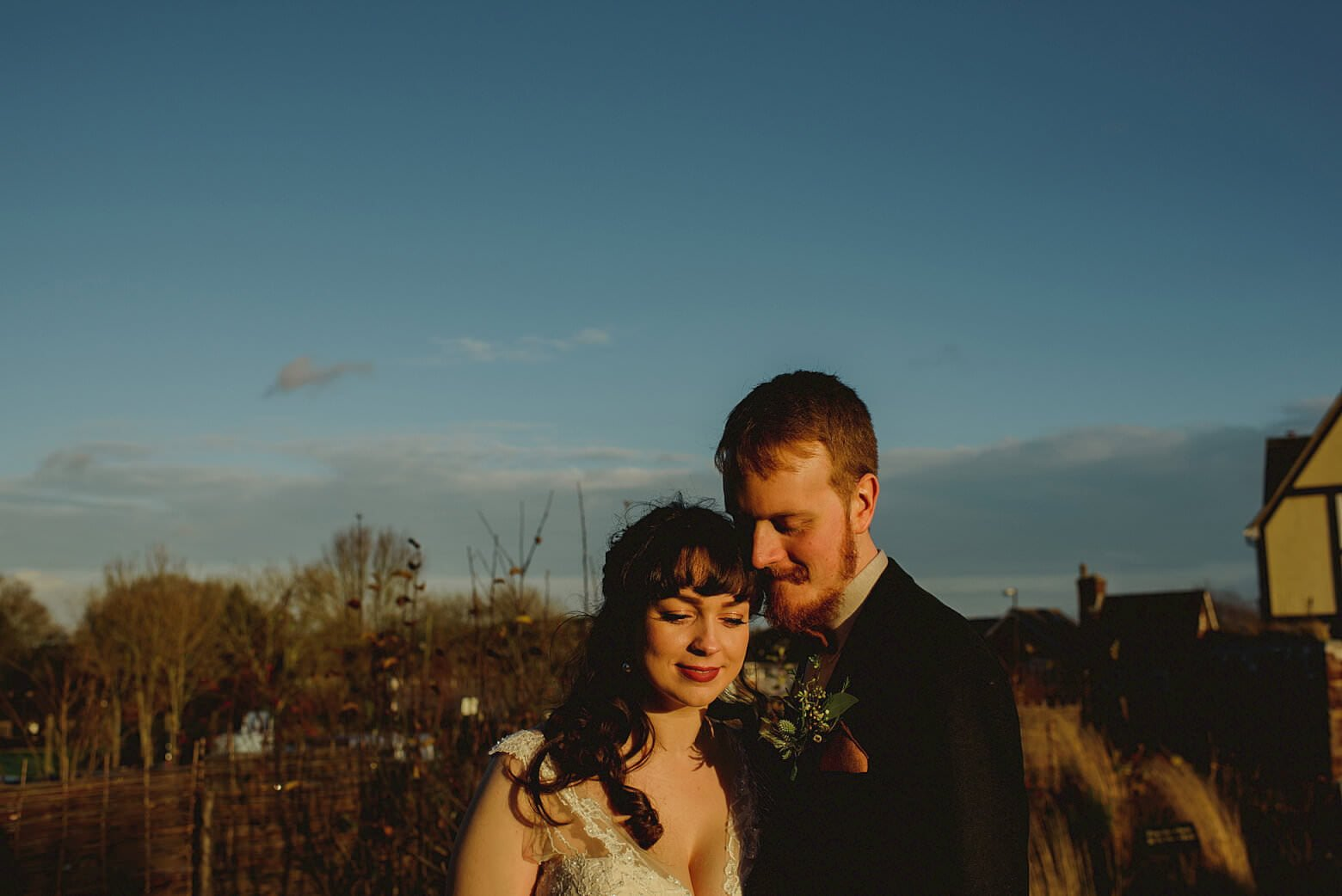 winter wedding at the bell in ticehurst