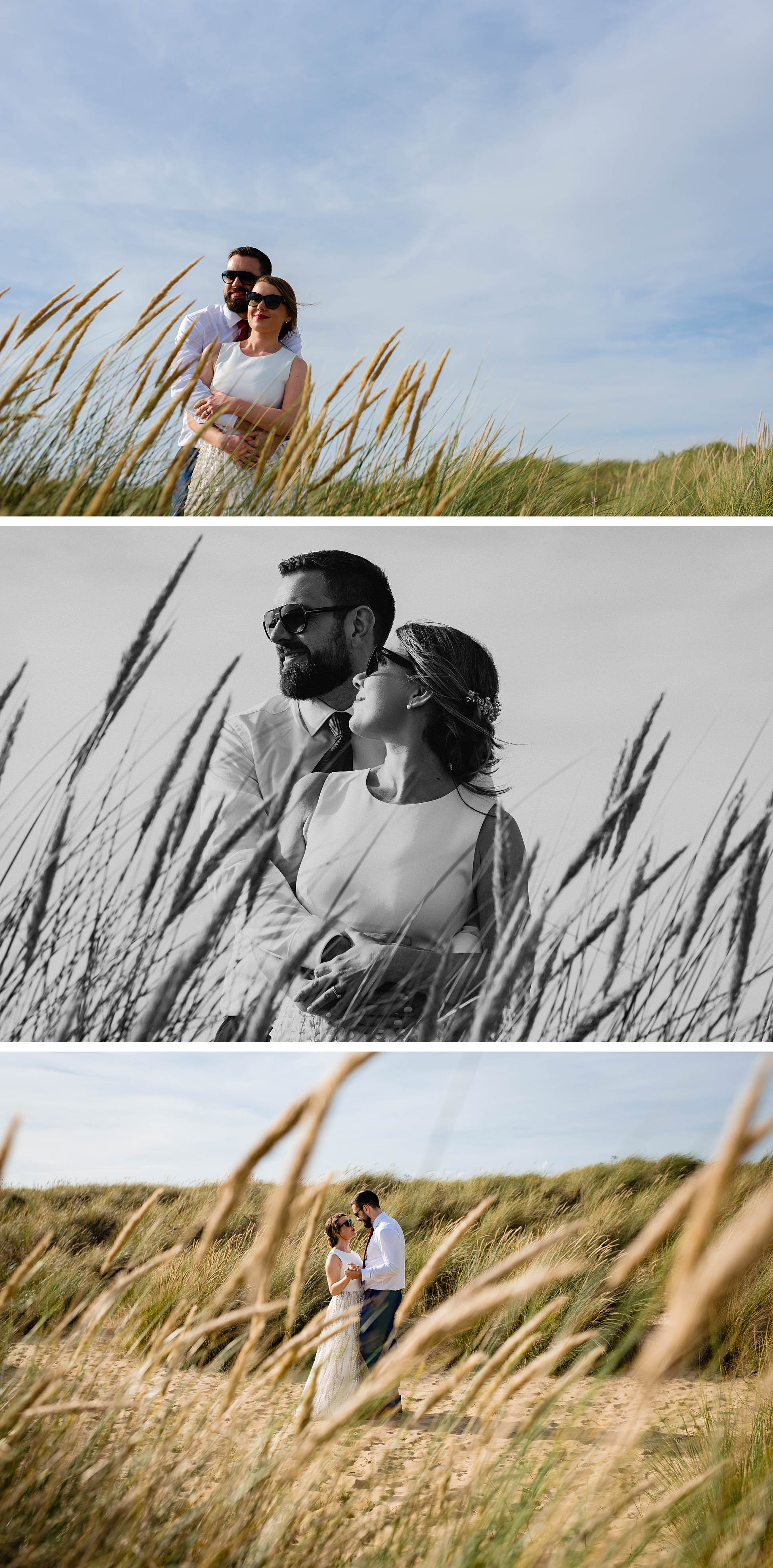 rye camber sands wedding