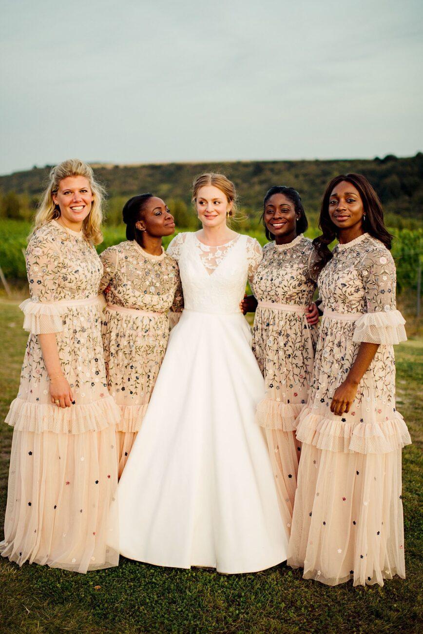 bride and brides maid Brighton wedding